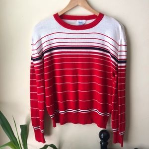 Vintage 100% Acrylic Striped Sweater Size M